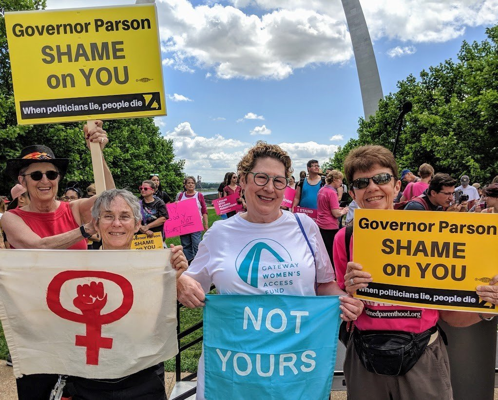 Allison Hile, and Mary Ann Tipton, at pro choice rally.